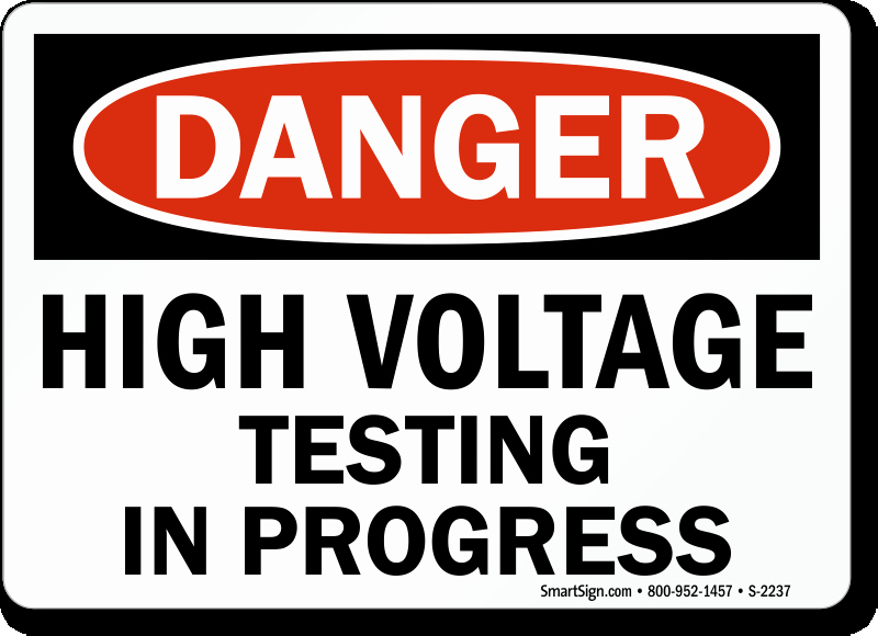 Testing In Progress Sign Pdf Unique High Voltage Testing In Progress Sign Danger Sku S