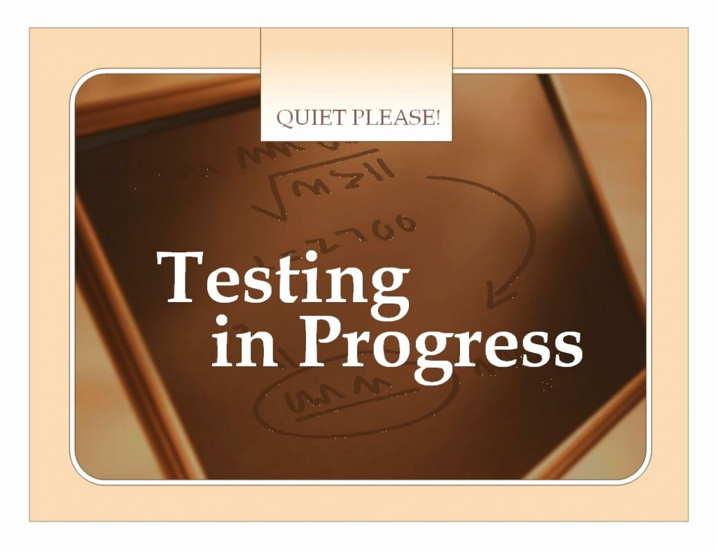 Testing In Progress Sign Pdf Unique Test Sign Template