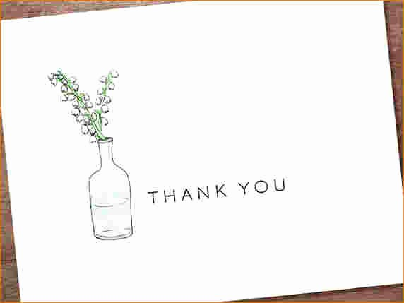 Thank You Card Template Free Awesome 5 Free Thank You Card Template