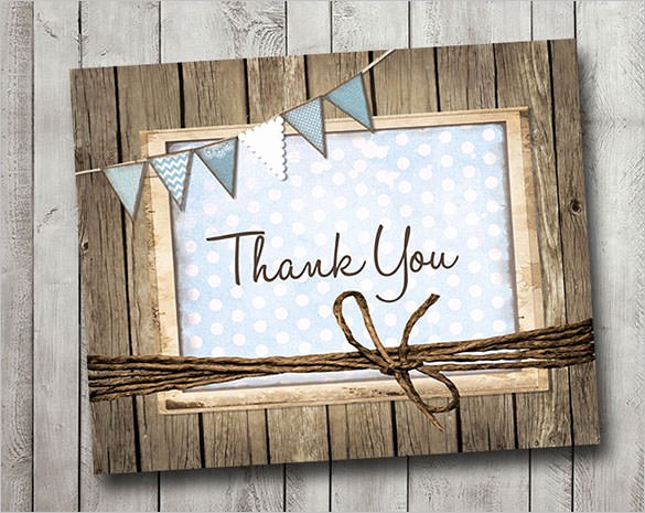 Thank You Card Template Free Beautiful 105 Thank You Cards Free Printable Psd Eps Word Pdf