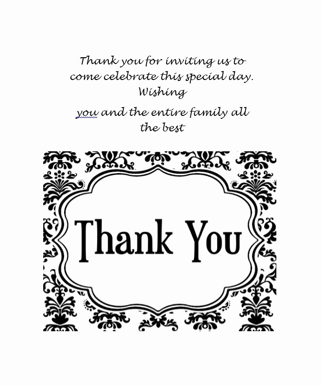 Thank You Card Template Free Best Of 30 Free Printable Thank You Card Templates Wedding