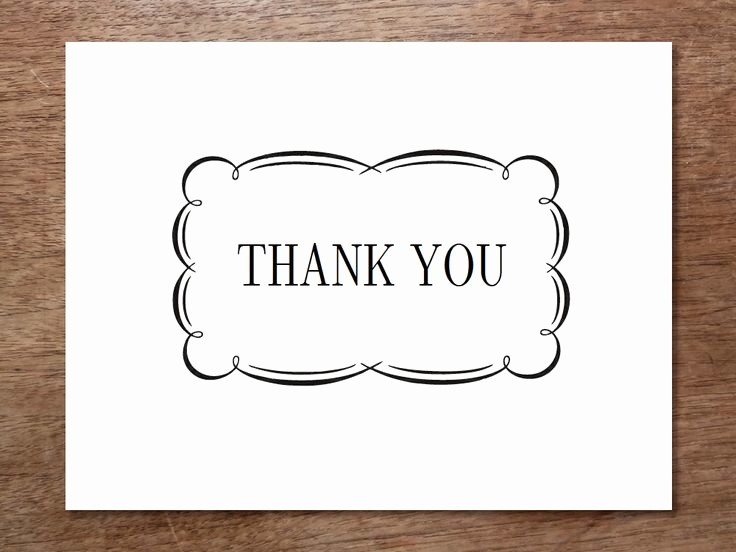 Thank You Card Template Free Best Of 7 Best Of Black and White Thank You Cards Printable