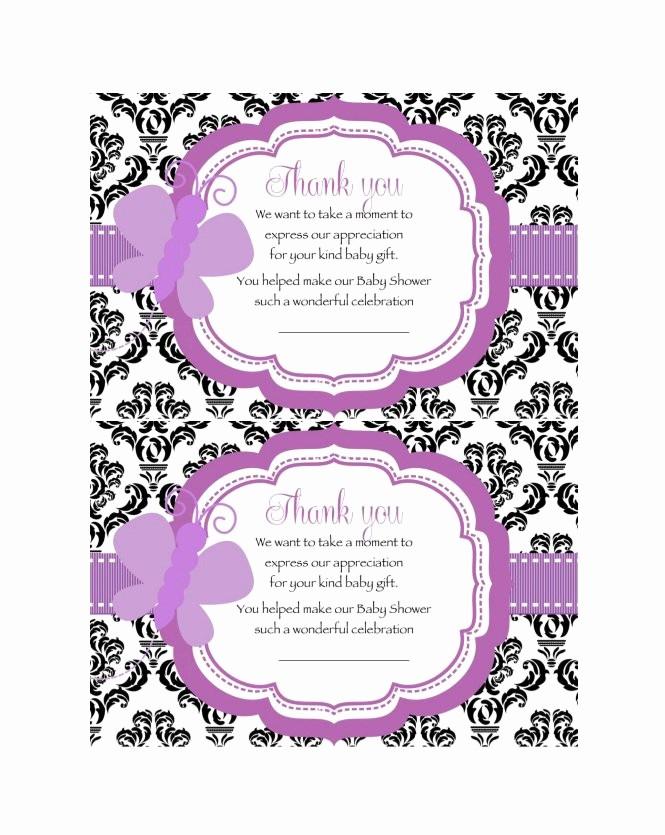 Thank You Card Template Free Elegant 30 Free Printable Thank You Card Templates Wedding
