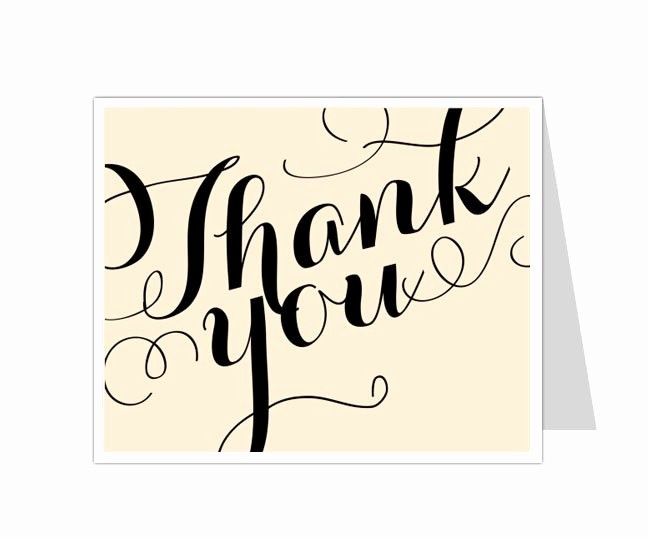Thank You Card Template Free Fresh 12 Best Thank You Card Templates Images On Pinterest