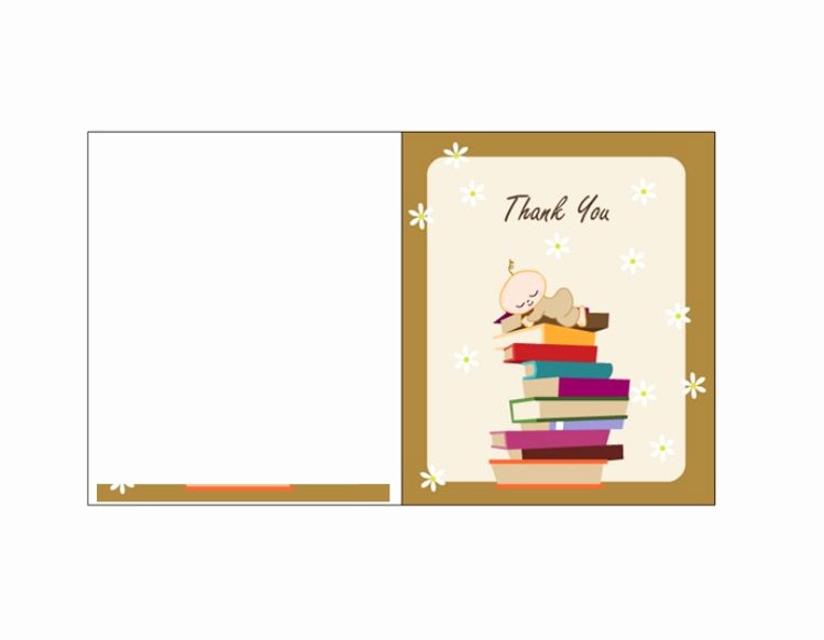 Thank You Card Template Free Fresh 30 Free Printable Thank You Card Templates Wedding