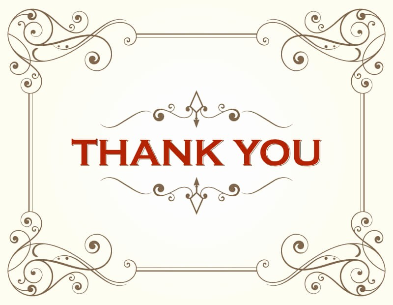 Thank You Card Template Free Fresh Thank You Card Template