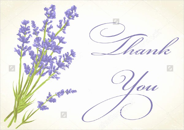 Thank You Card Template Free Lovely 8 Bridal Thank You Cards Design Templates