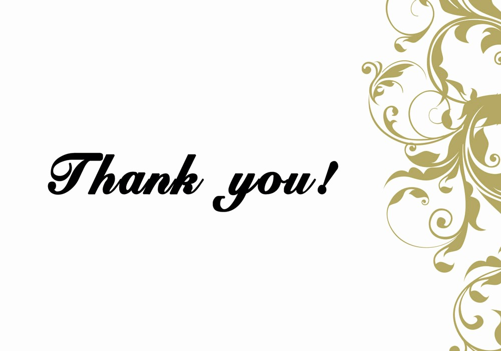 Thank You Card Template Free Luxury 6 Thank You Card Templates Excel Pdf formats