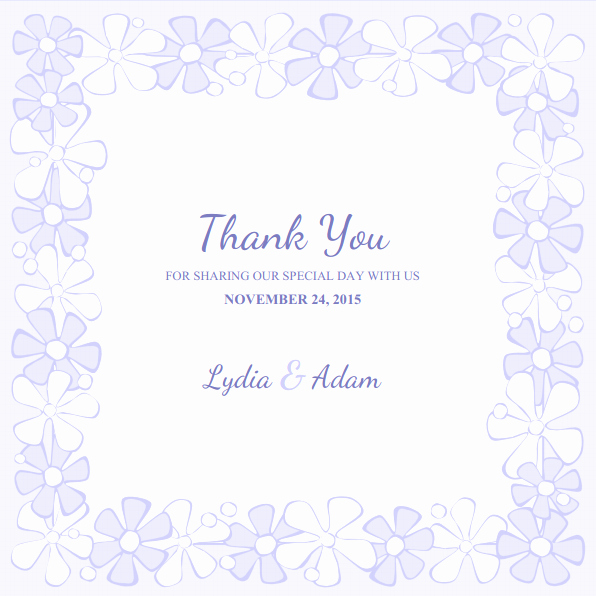 Thank You Card Template Free New Wedding Thank You Cards Archives Superdazzle Custom