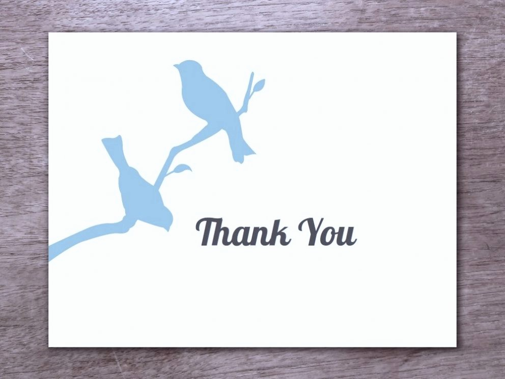 Thank You Card Template Free Unique Free Printable Thank You Card Template for All