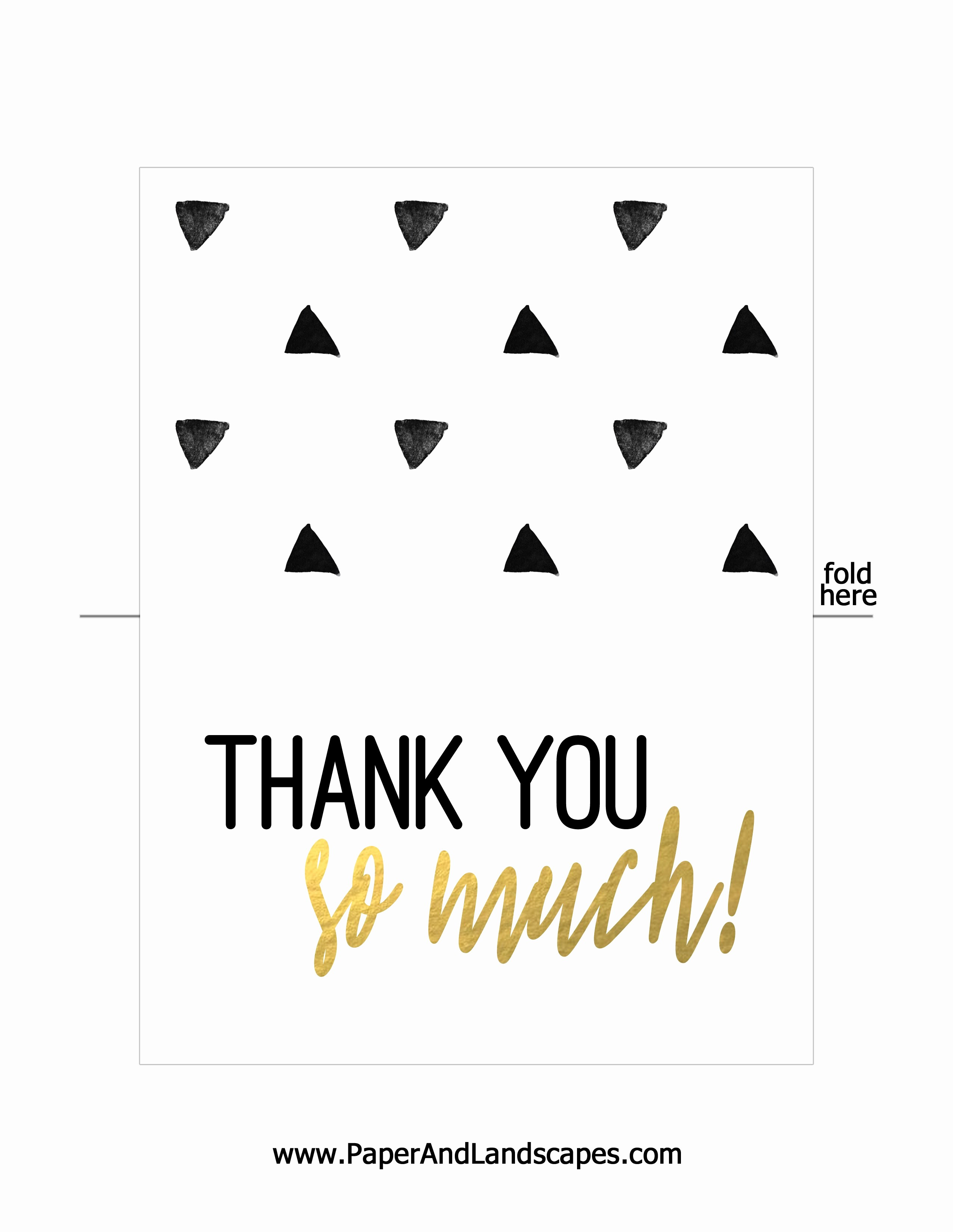 Thank You Card Template Free Unique Free Printable Thank You Cards Paper and Landscapes