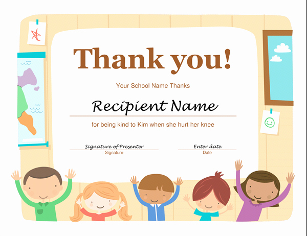 Thank You Certificate Word Template Awesome Thank You Certificate