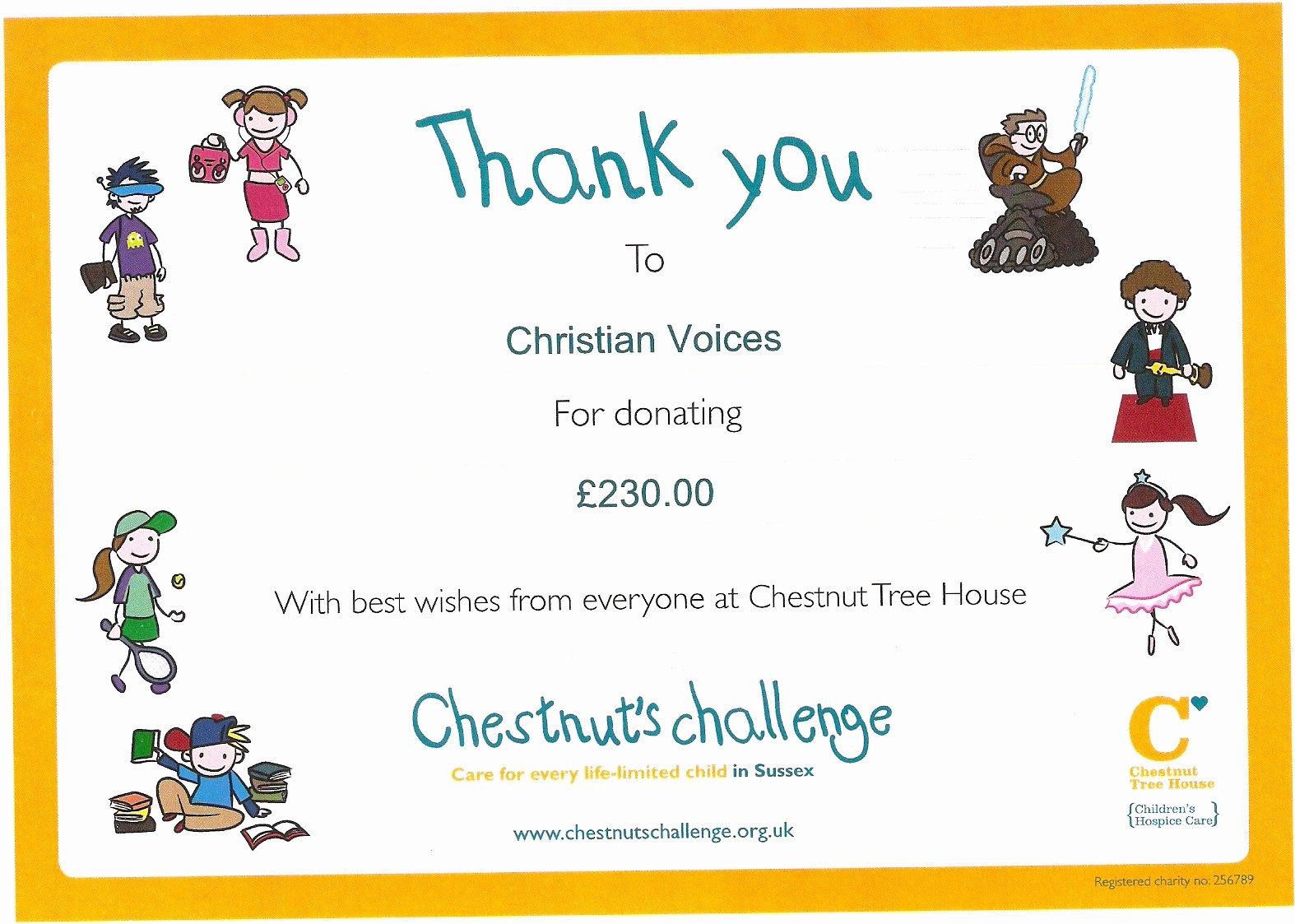 Thank You Certificate Word Template Awesome Thank You From Chestnut Tree House