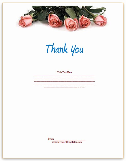Thank You Certificate Word Template Awesome Thank You Template