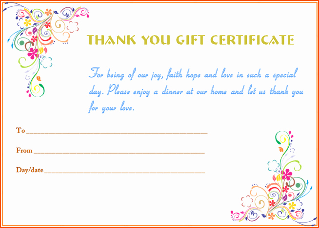 Thank You Certificate Word Template Beautiful 5 T Card Template Word Bookletemplate