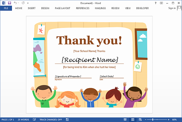 Thank You Certificate Word Template Elegant Best Certificate Templates for Word