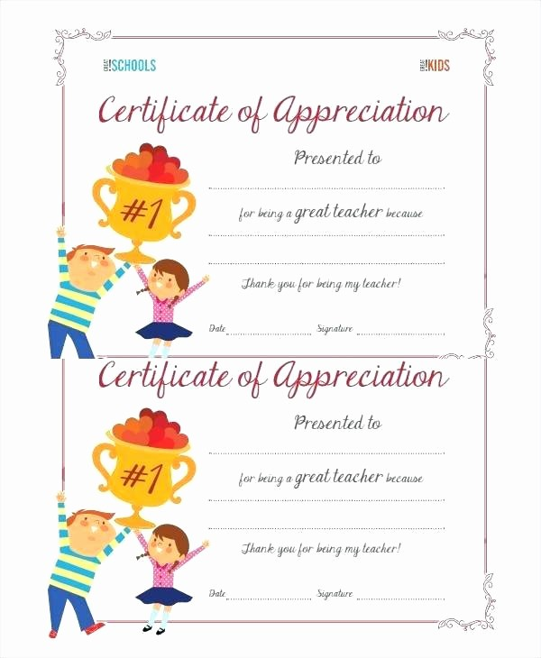 Thank You Certificate Word Template Elegant Thank You Certificate Template Related Post Kindergarten