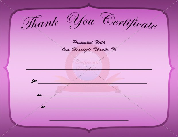 Thank You Certificate Word Template New 8 Best Of Thank You Templates for Word Thank You