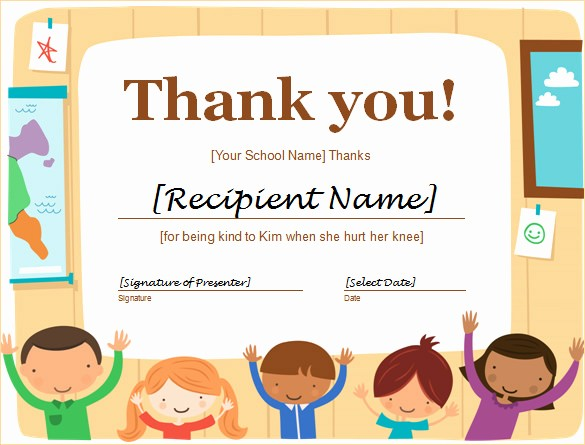 Thank You Certificate Word Template New Word Certificate Template 49 Free Download Samples