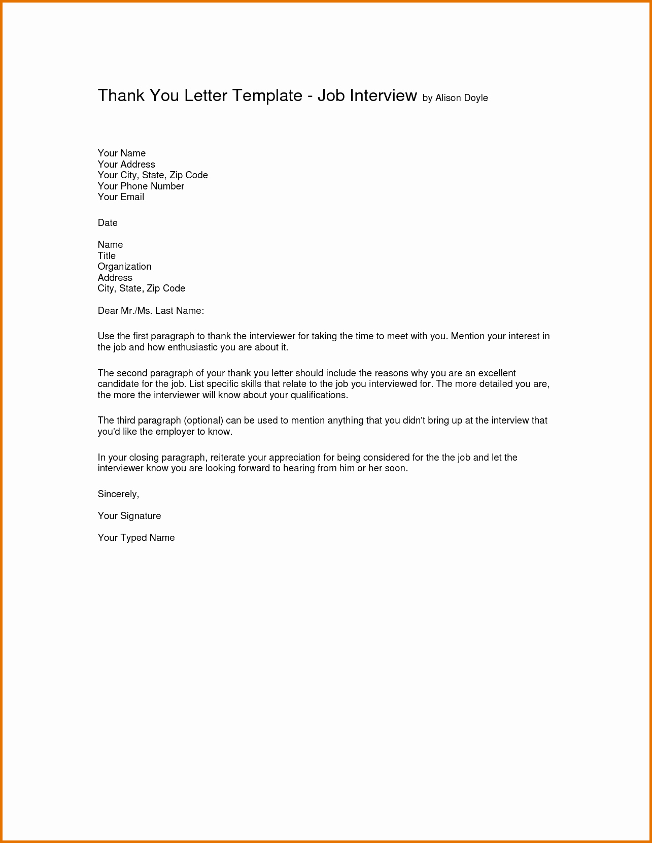 Thank You for Job Reference Awesome Job Interview Cover Letterreference Letters Words