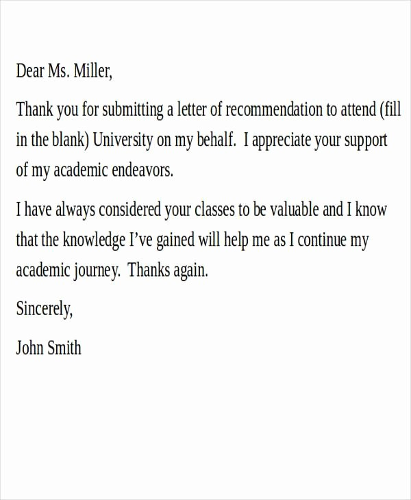 Thank You for Job Reference Best Of 28 Re Mendation Letter Examples