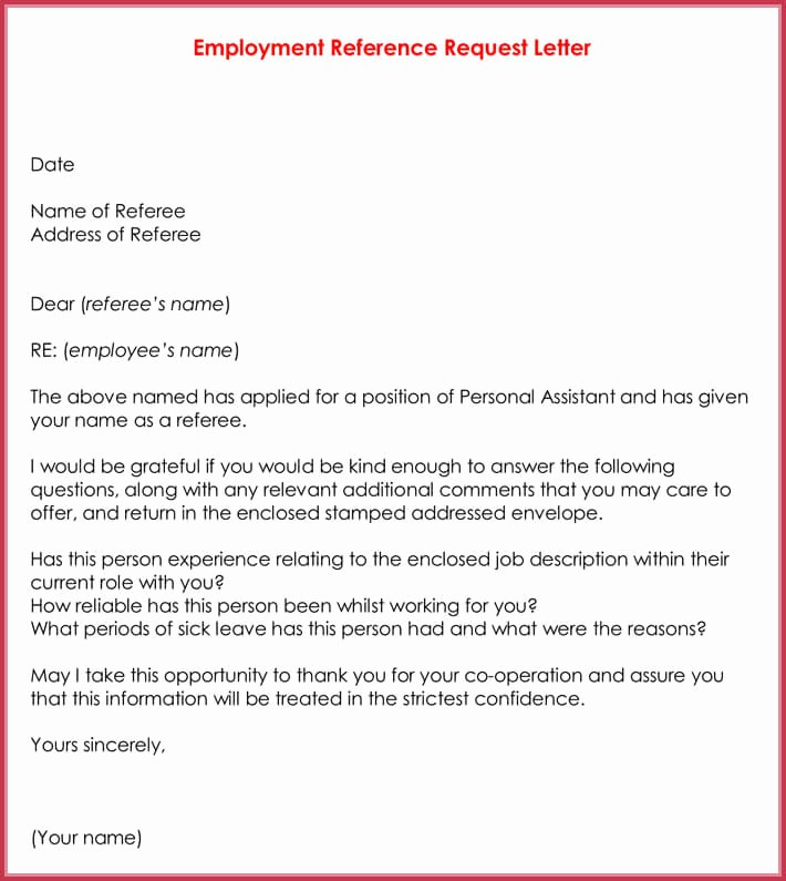 Thank You for Job Reference Lovely Reference Letters 15 Sample Letters and Templates