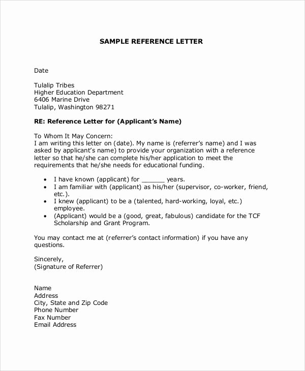 Thank You Letter for Reference Awesome 26 Sample Thank You Letter formats