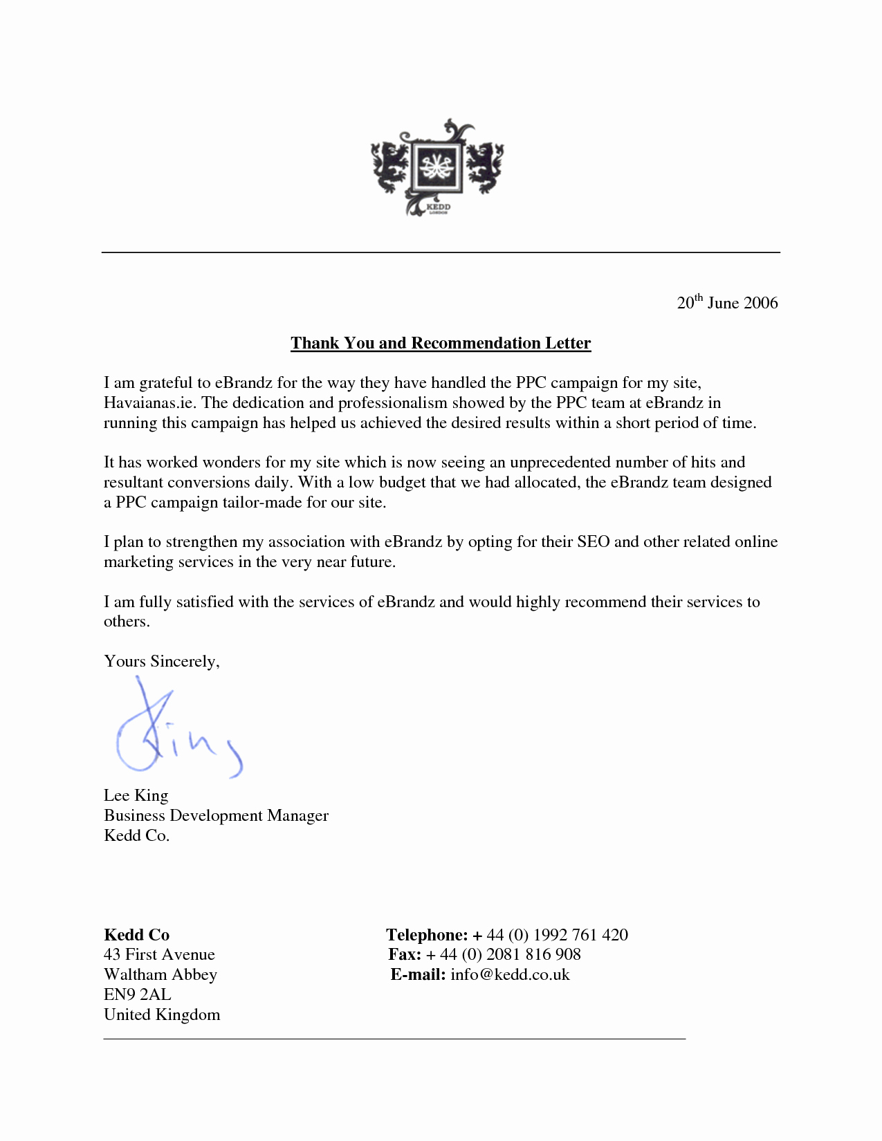Thank You Letter for Reference New Thank You Letter for Re Mendation