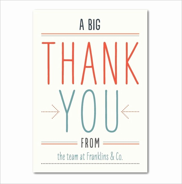 Thank You Note Card Template Awesome 18 Business Thank You Cards