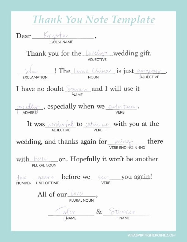 Thank You Note Card Template Awesome Writing thoughtful Personalized Thank You Notes