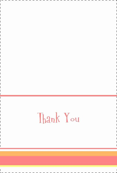 Thank You Note Card Template Fresh Cute & Free Baby Shower Thank You Notes