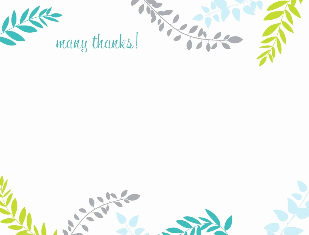 Thank You Note Card Template Fresh Thank You Note Template