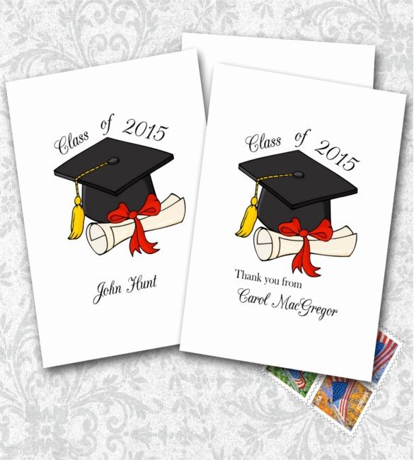 Thank You Note Card Template Inspirational 15 Graduation Thank You Notes – Free Sample Example