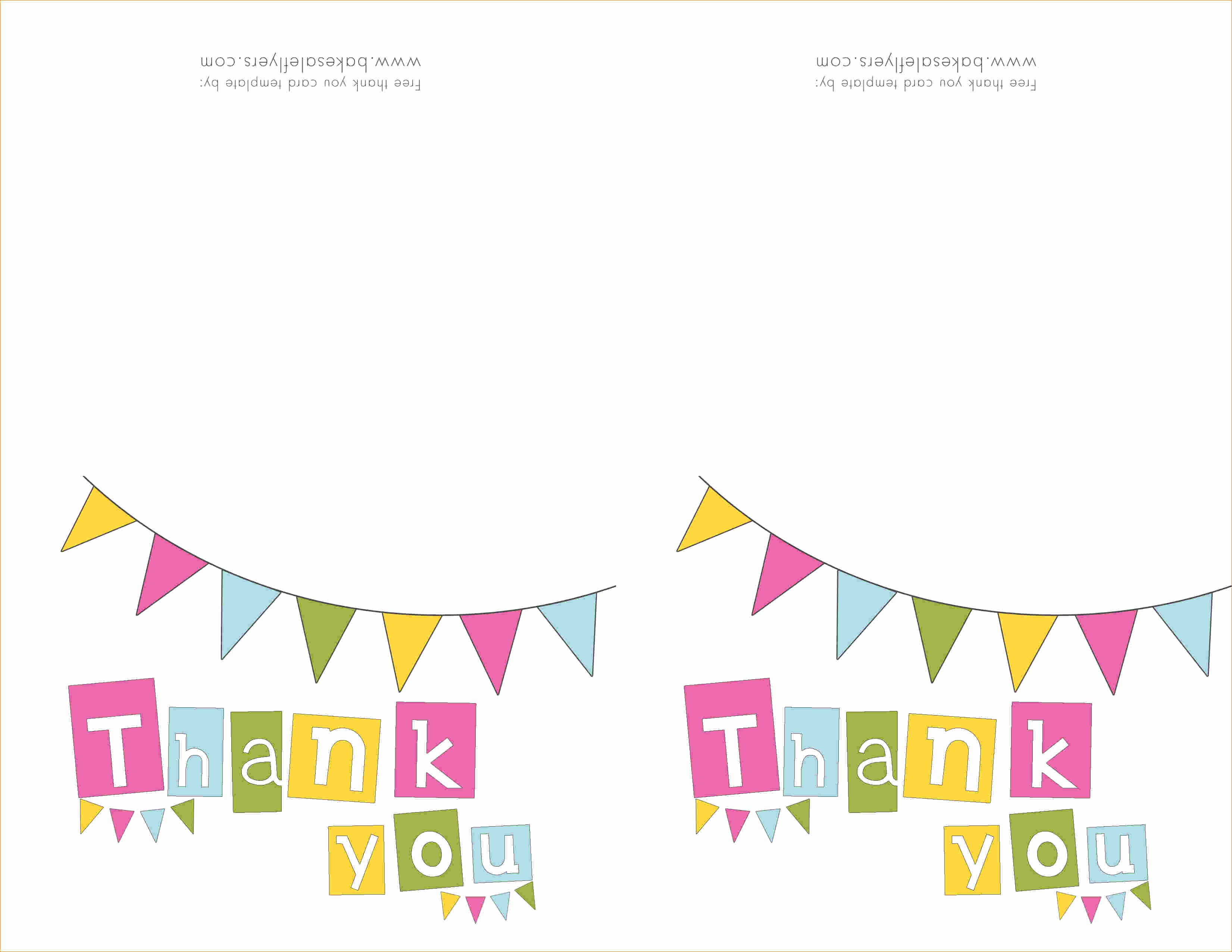 Thank You Note Card Template Inspirational 5 Thank You Template