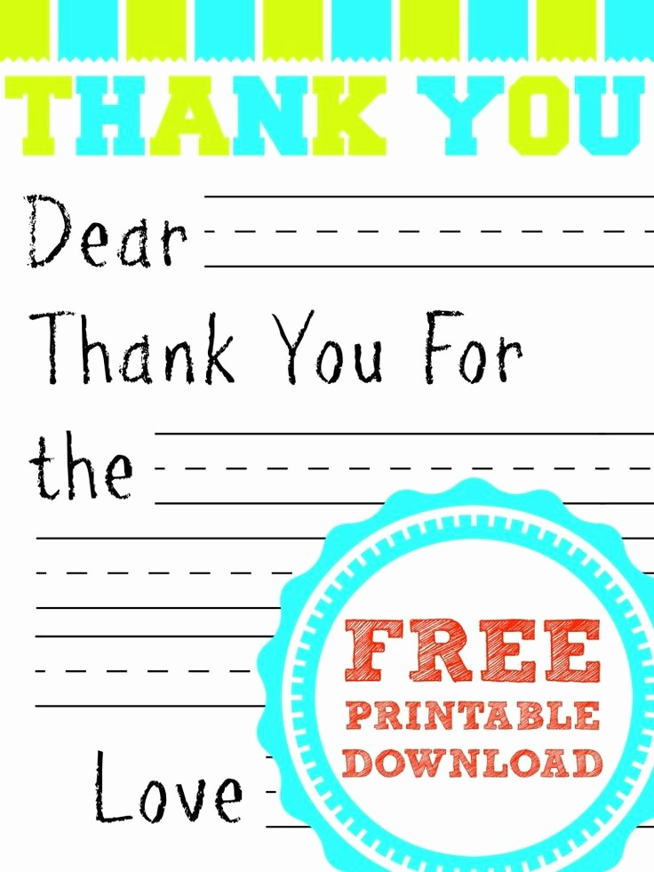Thank You Note Card Template Inspirational Best 25 Printable Thank You Notes Ideas On Pinterest