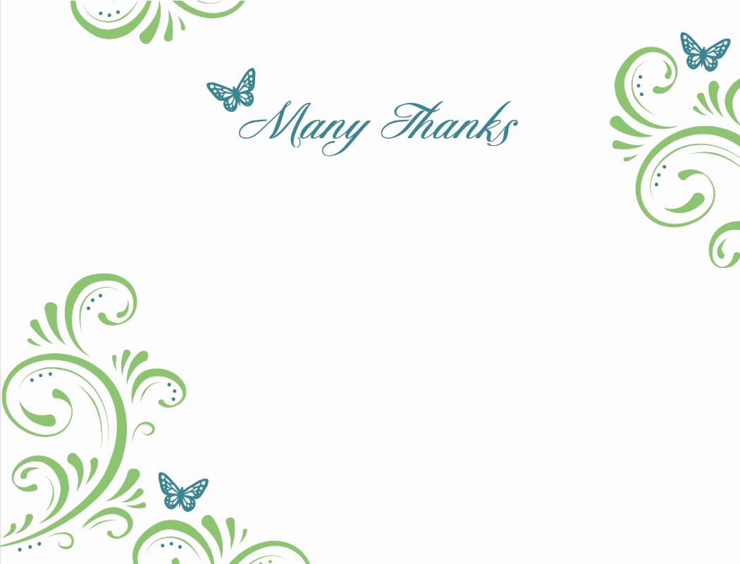 Thank You Note Card Template Inspirational Thank You Template