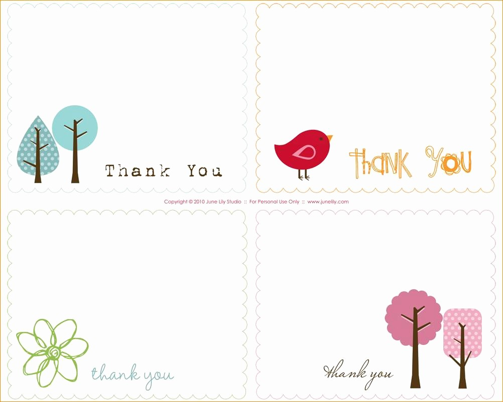 Thank You Note Card Template New Thank You Note Template