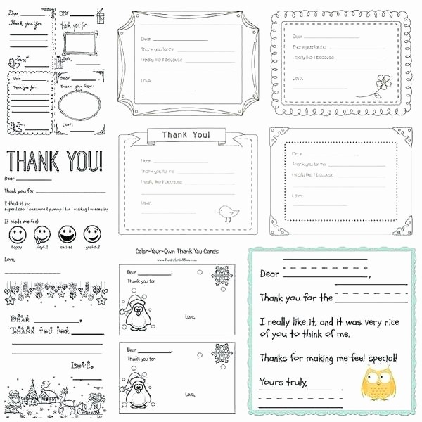 Thank You Note Card Template Unique Kids Thank You Note Template – Giancarlosopofo
