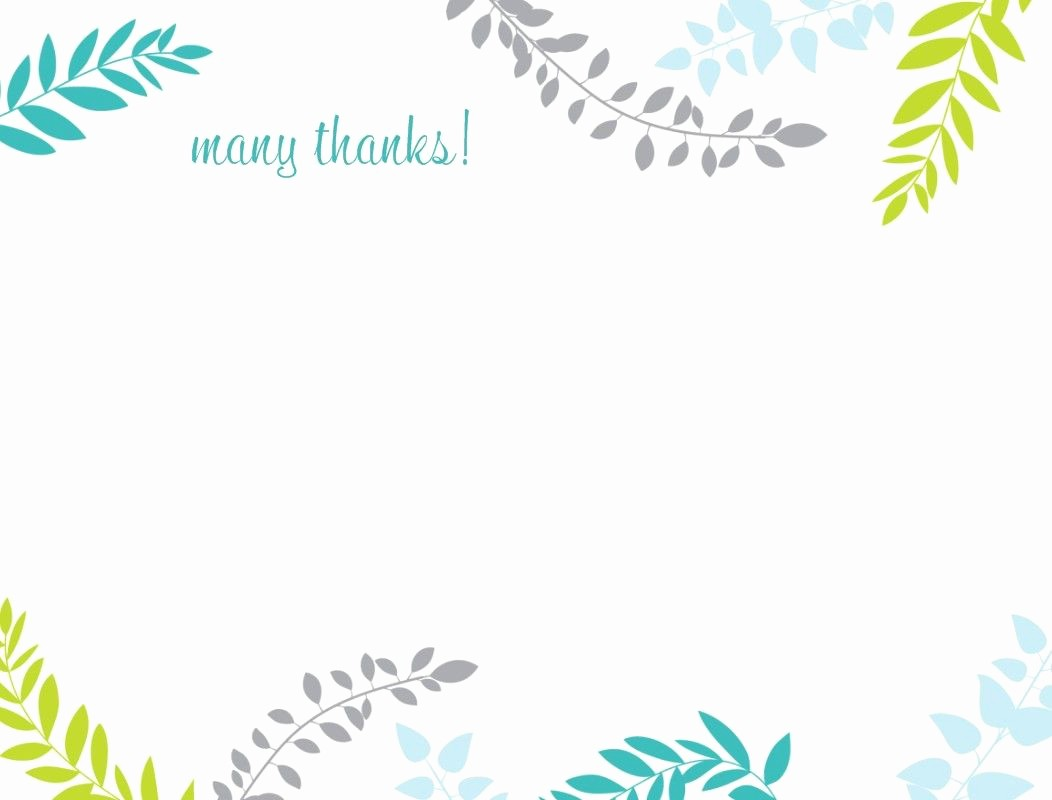 Thank You Note Card Template Unique Printable Thank You Card Template