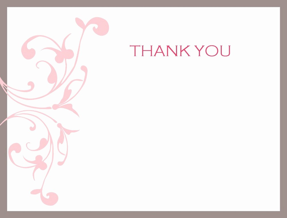 Thank You Note Card Template Unique Thank You Note Printable