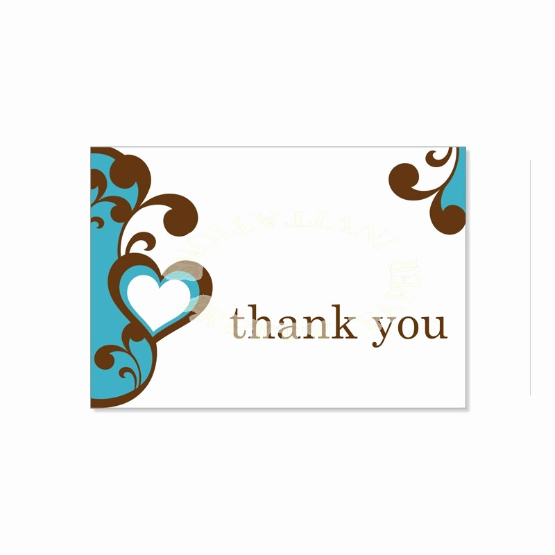 Thank You Note Card Template Unique Thank You Template