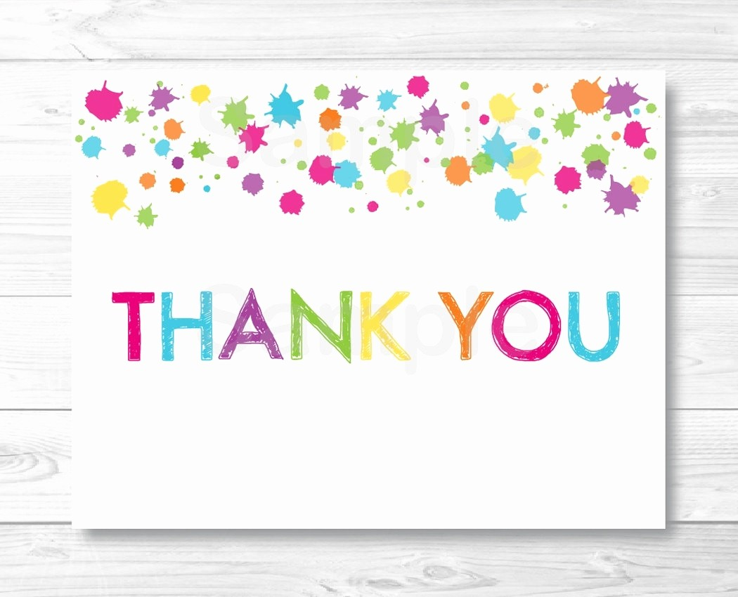 Thank You Note Cards Template Beautiful Thank You Template
