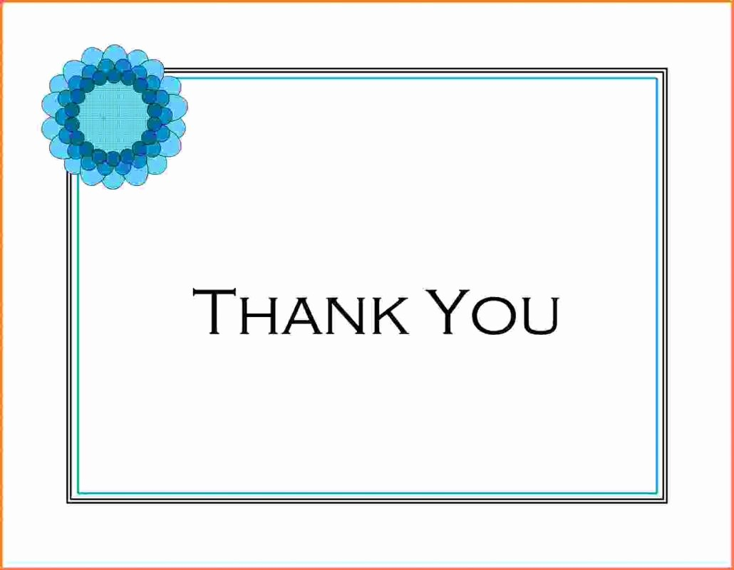 Thank You Note Cards Template Beautiful Wedding Thank You Note Template