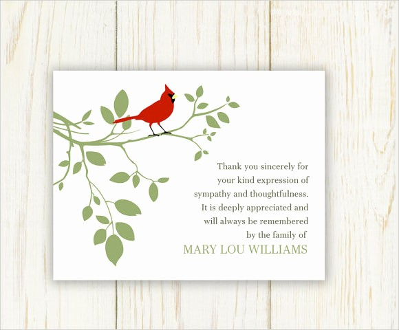 Thank You Note Cards Template Best Of 9 Funeral Thank You Notes