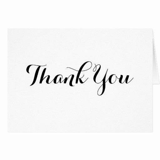 Thank You Note Cards Template Best Of Black Calligraphy Thank You Note Card Template