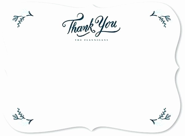Thank You Note Cards Template Best Of Business Thank You Card Template Ideas Collection Notes