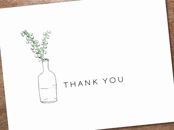 Thank You Note Cards Template Best Of Thank You Note Card Templates Printable Template Instant