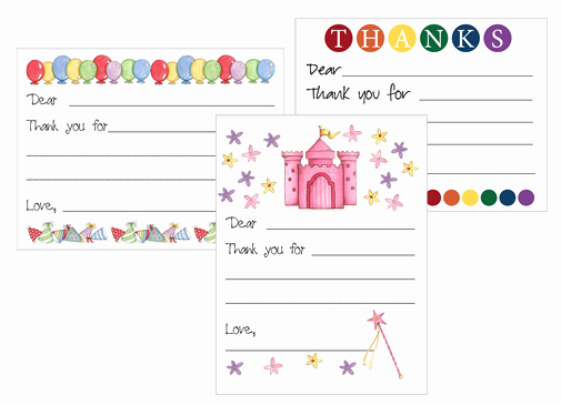 Thank You Note Cards Template Inspirational Free Printable Kid S Thank You Card Templates
