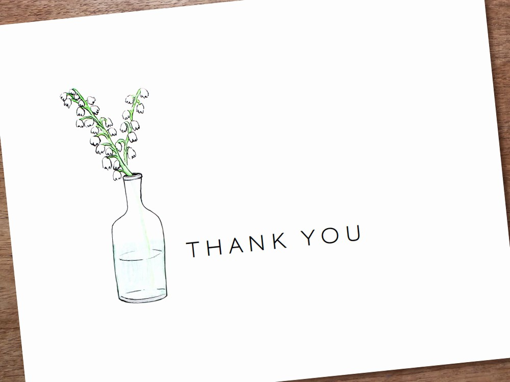 Thank You Note Cards Template Inspirational Printable Thank You Card Template Instant Download by Empapers