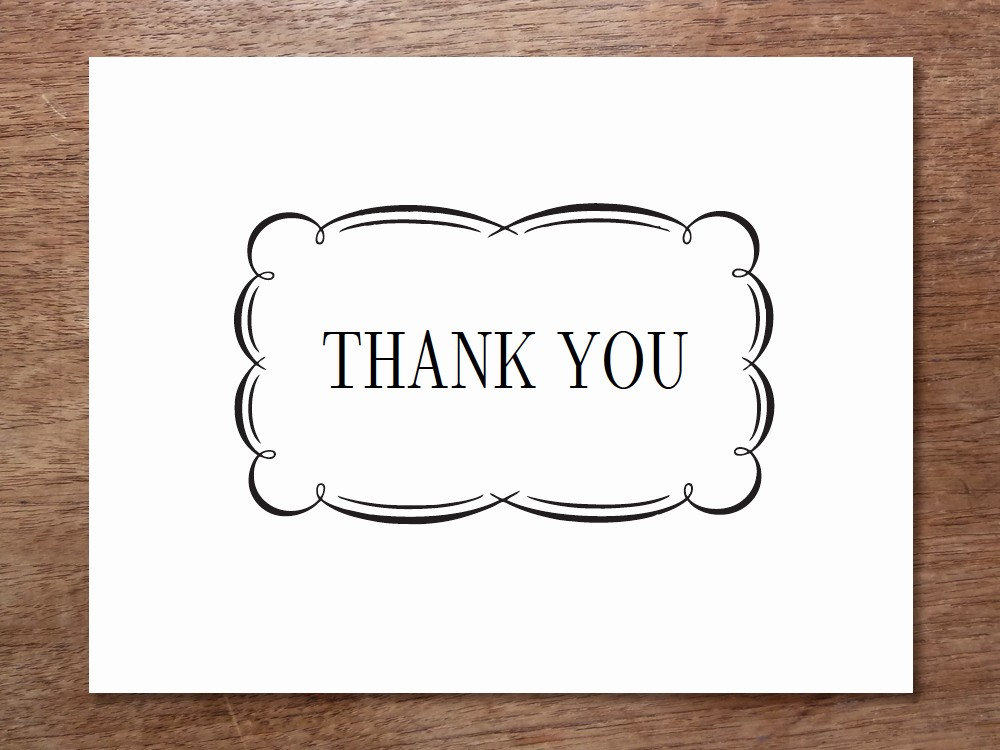 Thank You Note Cards Template Lovely Printable Thank You Cards Black and White Free Clipart